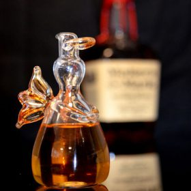 Angels' Share Bourbon filled glass angel