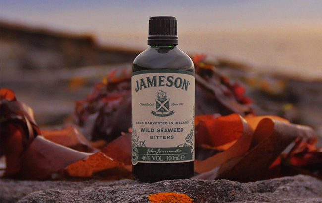 Jameson Wild Seaweed Bitters is made with red wild dilisk seaweed, a variety of herbs and Jameson Irish whiskey