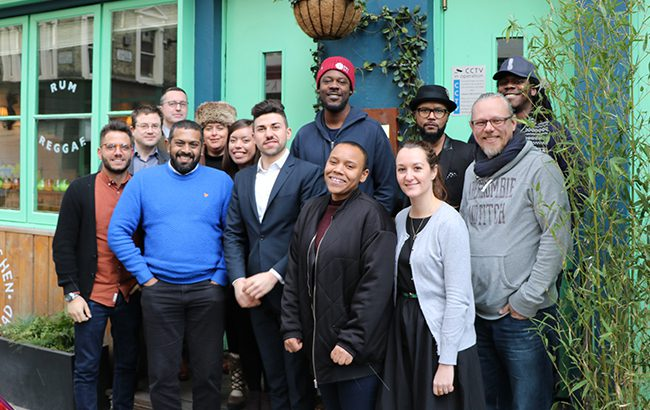 (L­R): Alessio Franzese, Antony Moss, Matt Chambers, Keegan Menezes, Nicola Thomson, Melita Kiely, Alessandro Geraci, Sly Augustin, Imie Augier, Amy Hopkins, Chris Mathurin, Peter Holland and Daawud Zepherin