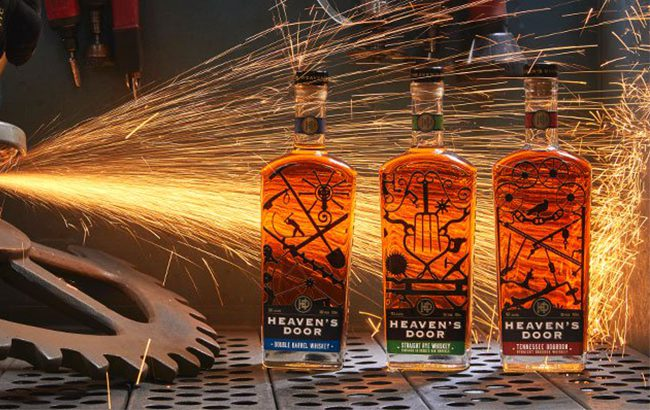 The Heaven's Door range consists of Tennessee Straight Bourbon Whiskey, Double Barrel Whiskey and Straight Rye Whiskey