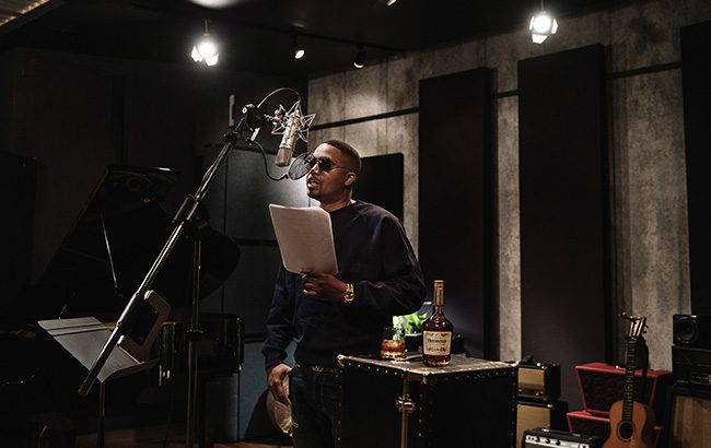 Hip-hop artist Nas lends his voice to the Hennessy campaign