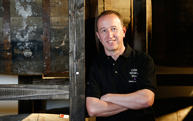Ally Alpine, managing director of Celtic Whiskey Shop