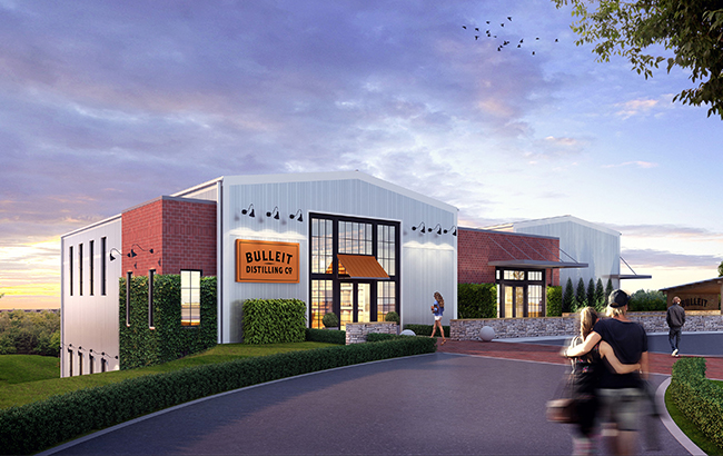 The US$10 million visitor centre at Bulleit Distilling Co will open in 2019