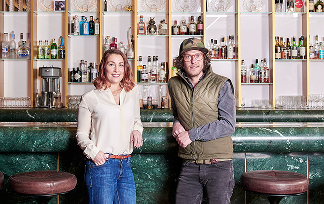 (L-R) Claire Smith-Warner and Ben Branson, founder of Seedlip