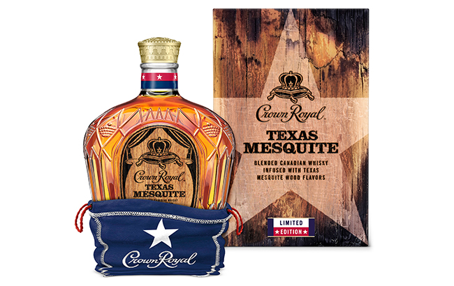 Crown Royal Texas Mesquite includes the brand's signature box and bag