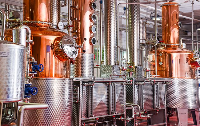 Altia's O.P. Anderson aquavit distillery opened last year in Sundsvall, Sweden