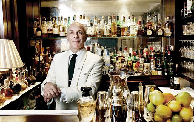 Alessandro Palazzi, head bartender at London hotel bar Dukes