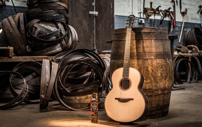 Bushmills uses copper from its stills in acoustic guitar
