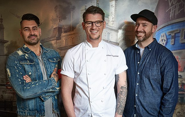 L-R: Rich Woods, Adam Handling, Matt Whiley. Photo credit: Tim Green