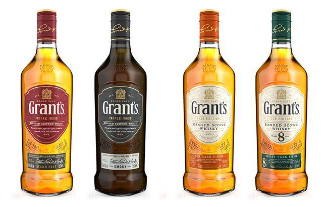 New era: the revamped core range of Grant's whiskies