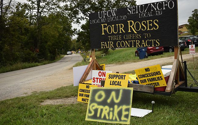 Strike action has been called off at Four Roses distillery (Credit: SEIU NCFO Kentucky)