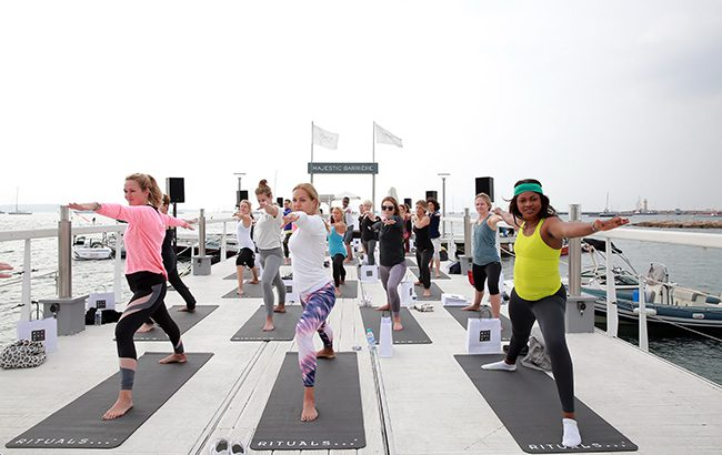 Stretch goal: open-air yoga sessions will take place during the show