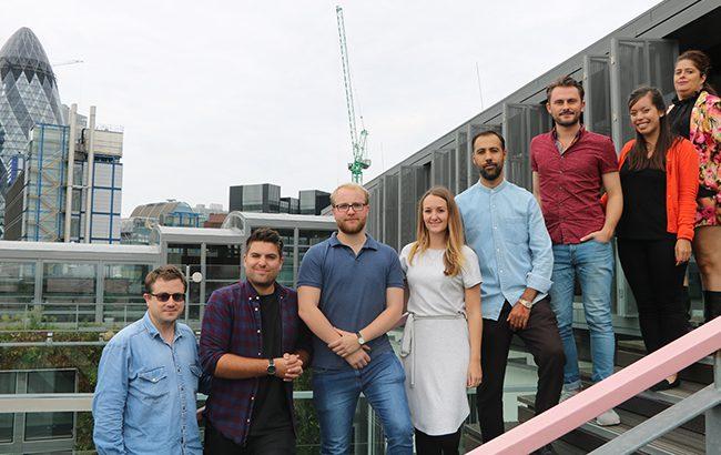 Lr: Antony Moss, Nik Koster, Henry Hutton, Amy Hopkins, Dmitry Mishin, Ben Lindsay, Melita Kiely and Nicola Thomson
