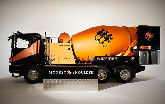 Mixing it up: Monkey Shoulder's mammoth cocktail shaker