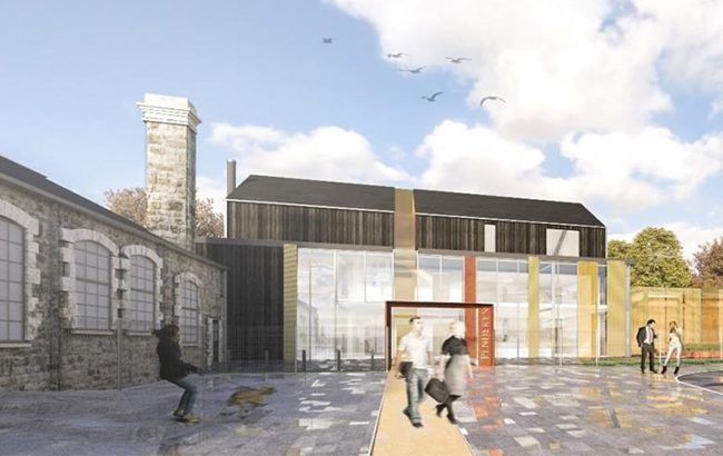 An artist's impression of the new Penderyn distillery in Swansea