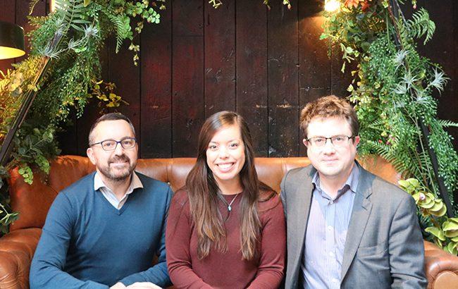 Lr: Matt Chambers, Melita Kiely and Antony Moss