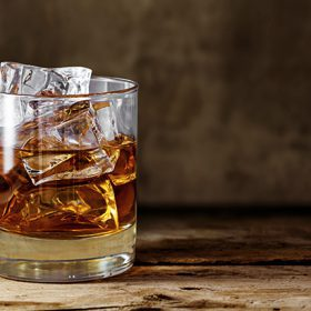 Scotch whisky ice