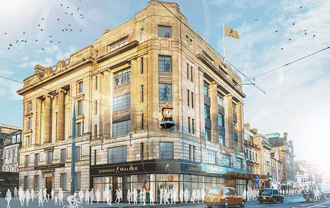 An artist's impression of the seven-floor Johnnie Walker visitor experience at 146 Princes Street, Edinburgh