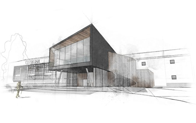 An artist's impression of the Clynelish Distillery transformation