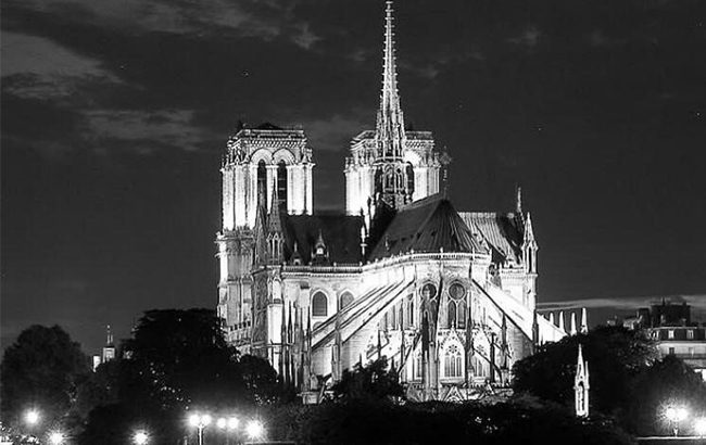 The historic Notre-Dame cathedral in Paris is one of France's most famous landmarks