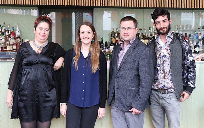 L-r: Nicola Thomson, Amy Hopkins, Antony Moss and Dan Greifer