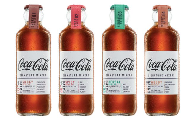 Created to be paired with dark spirits, the Coca-Cola Signature Mixers range is available in four flavours