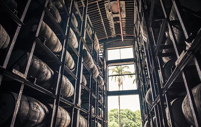 Barrels being stored at Venezuela's Diplomático