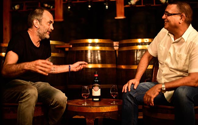 Bartender Nick Strangeway (left) with Asbel Morales, Havana Club's maestro del ron Cubano