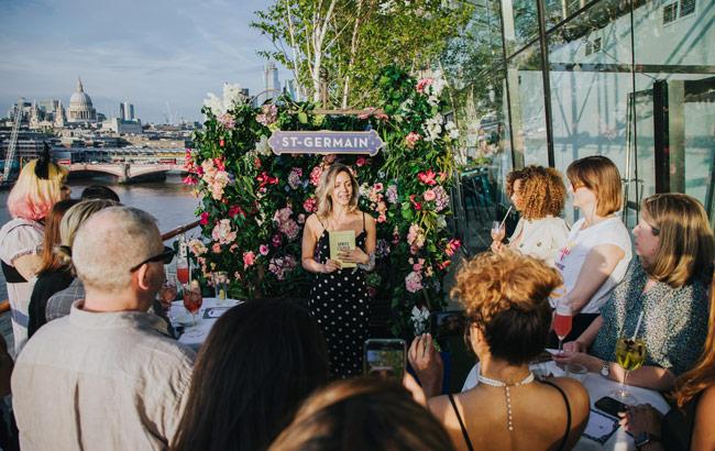 508b19e5eeb9f Elderflower liqueur brand St-Germain opened the doors to its Summer in  Bloom terrace in London this week