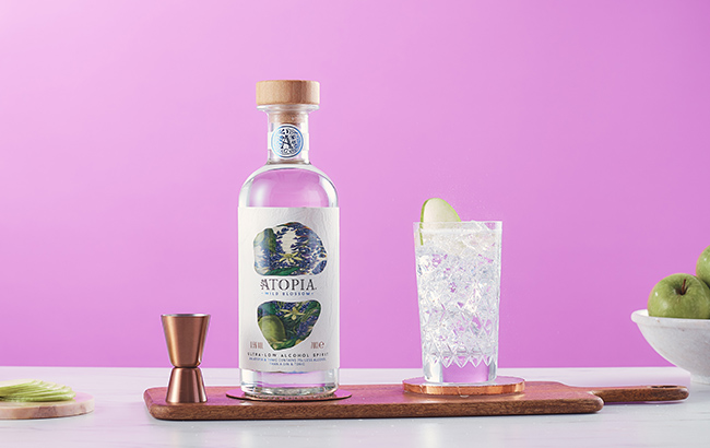 A glass of Atopia and tonic contains 75 times less alcohol than a standard gin and tonic