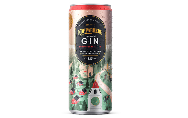 The 5% abv Koppaberg Premium Gin and Lemonade contains 125 calories