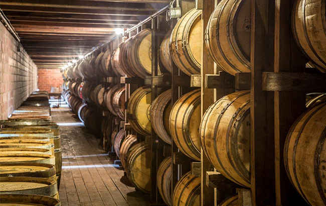 A barrel warehouse at the O.Z. Tyler Distillery in Kentucky (Image credit: O.Z. Tyler Distillery Facebook)