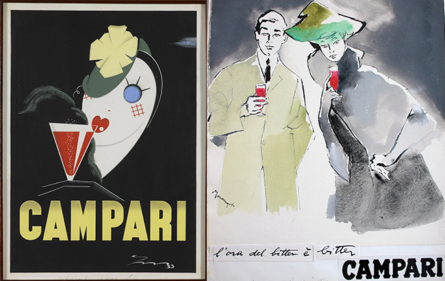 Two posters by artist Franz Marangolo
