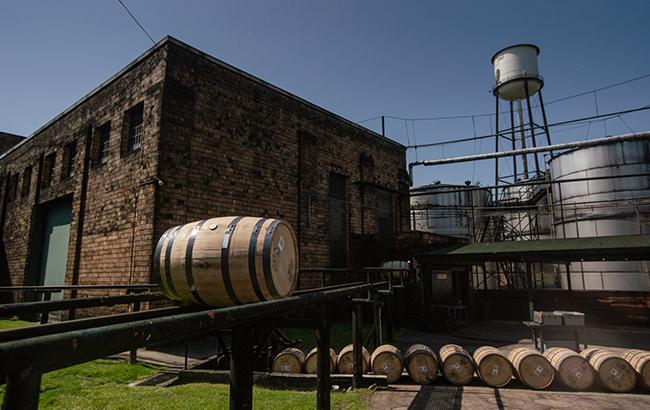Buffalo Trace barrels in Kentucky