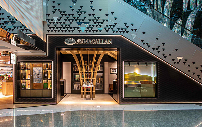 A revamped Macallan Boutique store at Taiwan Taoyuan International Airport