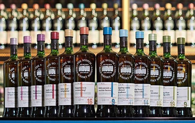 Scotch Malt Whisky Society's range of whiskies