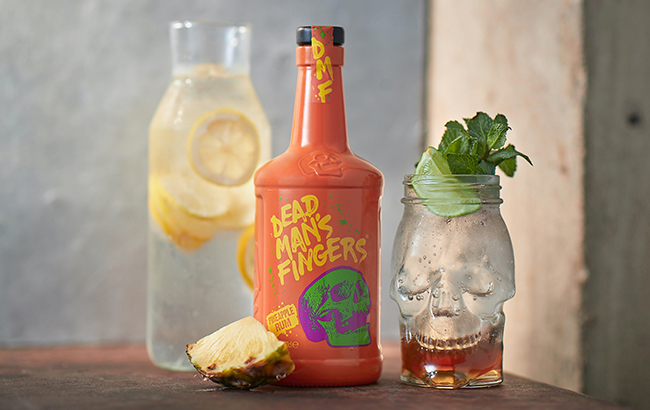 Dead Man's Fingers Pineapple Rum is recommend served with lemonade