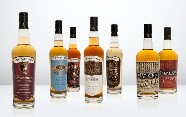 Compass Box whiskies