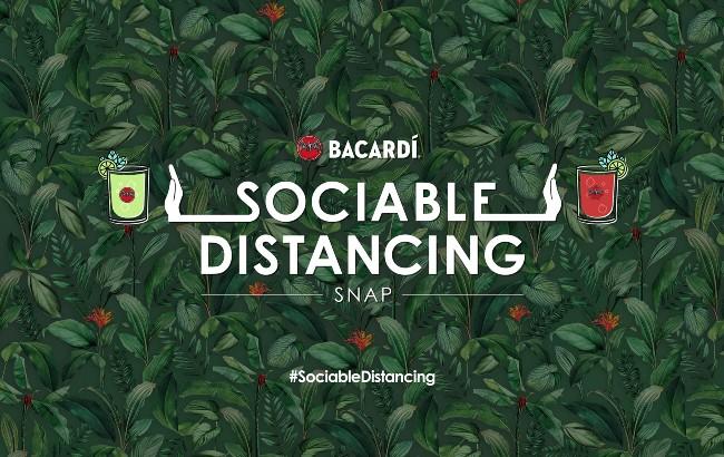 Bacardi snapchat social distancing