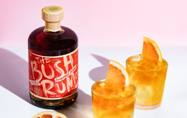 Spiced Bush Rum with Ginger Beer