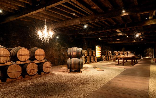 Mature outlook: Cognac maturing in barrels