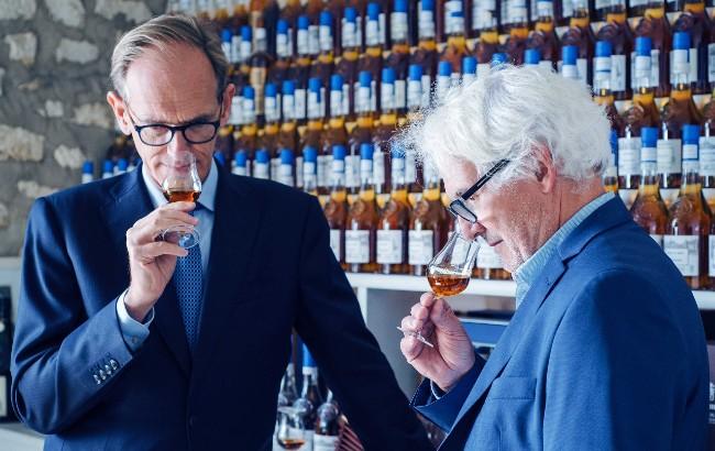 Charles Braastad nosing Cognac