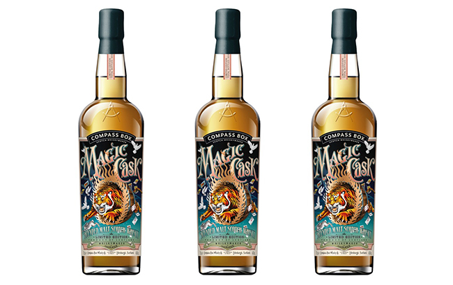 Magic Cask whisky is bottled at 43% ABV