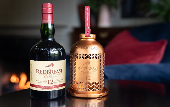 The case can be removed from the Redbreast bottle and filled with bird feed