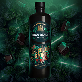 Riga Black Balsam Chocolate & Mint is bottled at 30% ABV