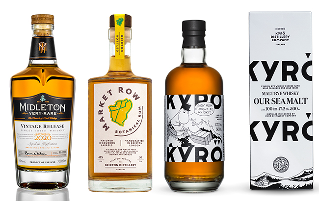 A rare Irish whiskey bottling and a botanical rum were among our top new spirits in October