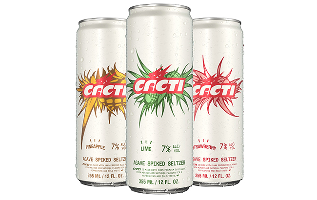 Each Cacti seltzer is made with agave and has an ABV of 7%