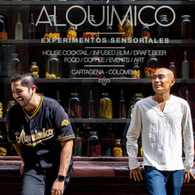 Yeferson Avila Rodriguez and Jean Trinh, co-owners of Alquímico bar