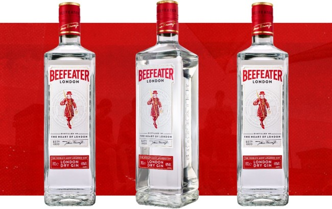 Beefeater GIn sustainable packaging