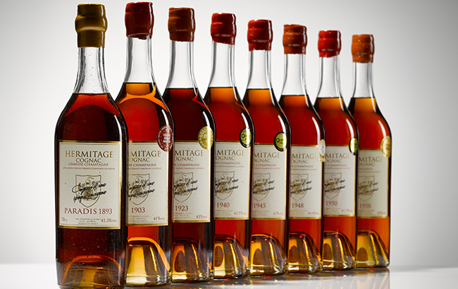 Paradis row: a line-up of Cognac vintages from Hermitage
